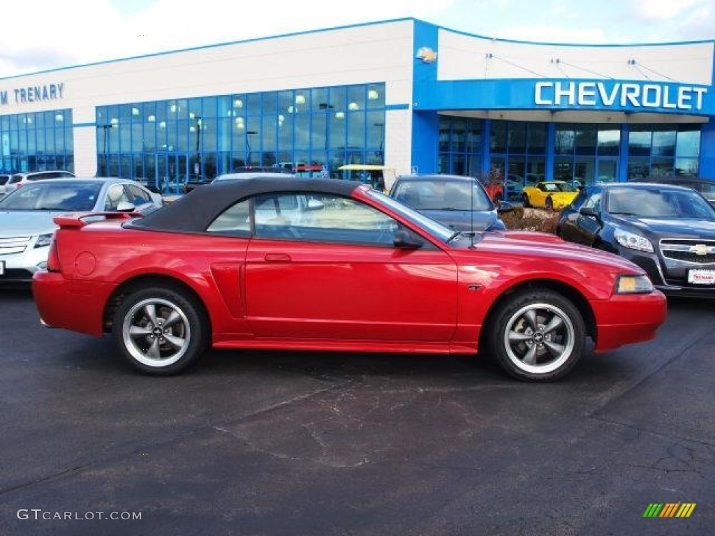 2001 Mustang GT Convertible - Laser Red Metallic / Dark Charcoal photo #1