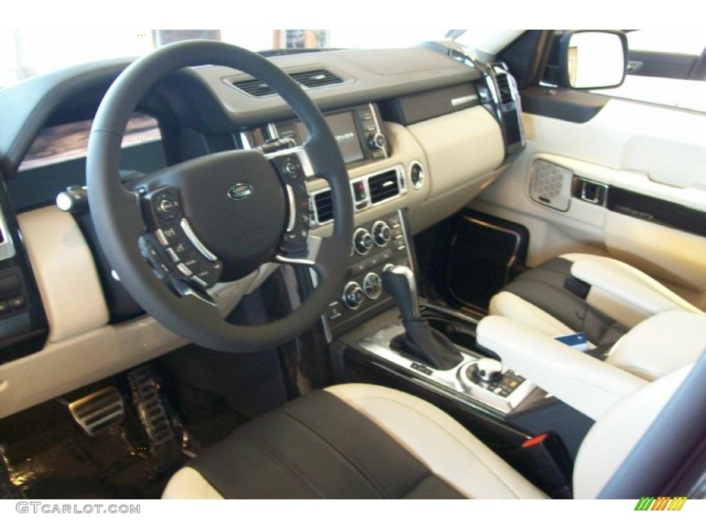 Duo tone ivory jet interior 2012 land rover range rover - 2012 range rover interior pictures ...