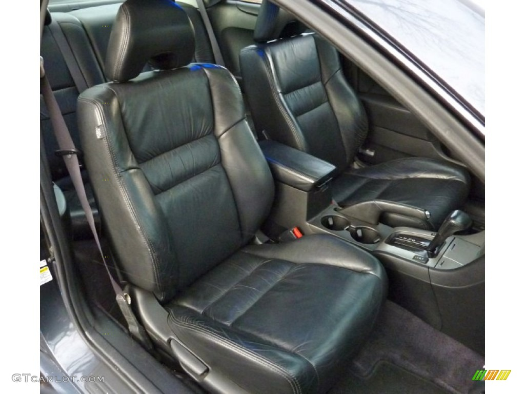 Black Interior 2005 Honda Accord Ex V6 Coupe Photo