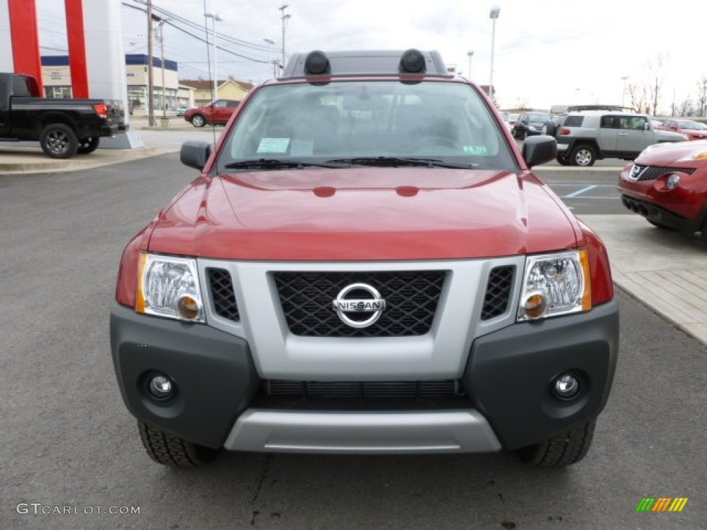 lava red 2012 nissan xterra pro 4x 4x4 exterior photo 61525204. Black Bedroom Furniture Sets. Home Design Ideas