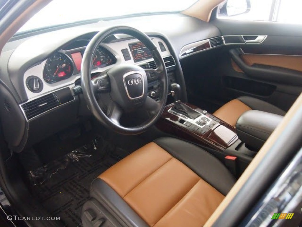 amaretto black interior 2009 audi a6 3 0t quattro sedan. Black Bedroom Furniture Sets. Home Design Ideas
