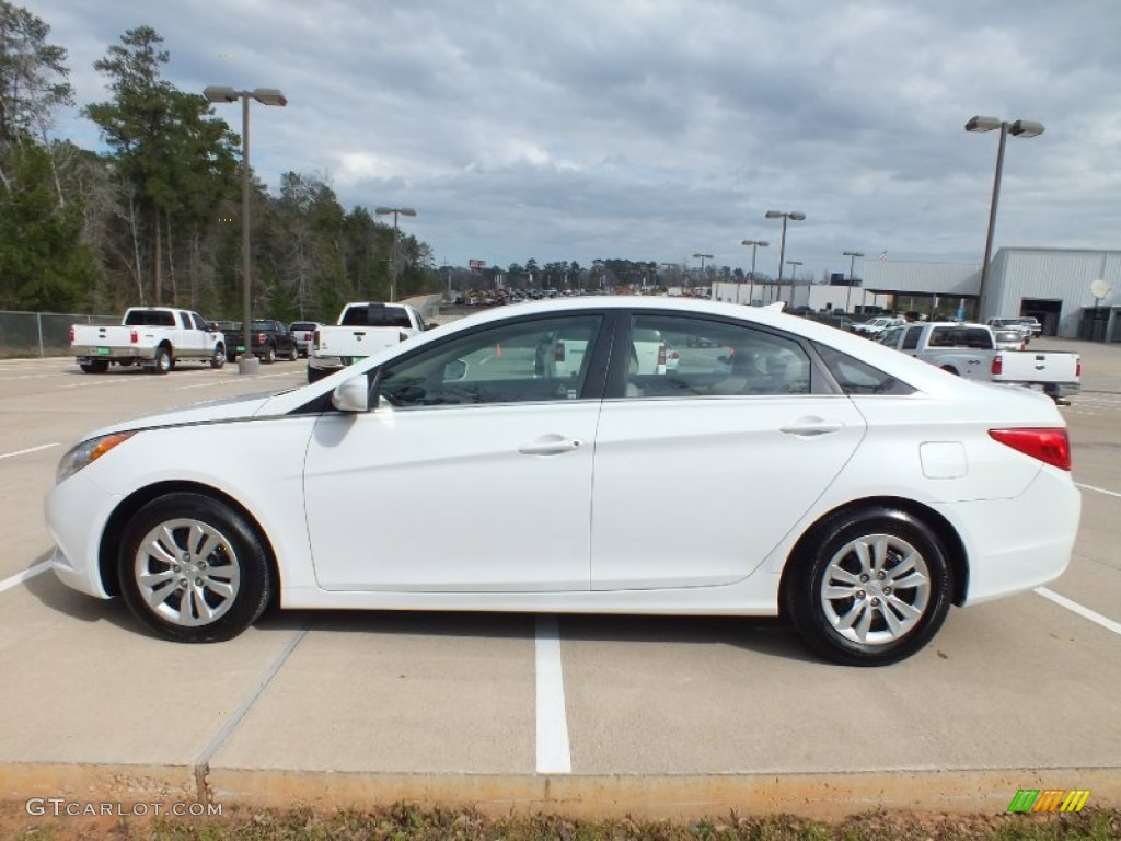 Pearl White 2011 Hyundai Sonata Gls Exterior Photo