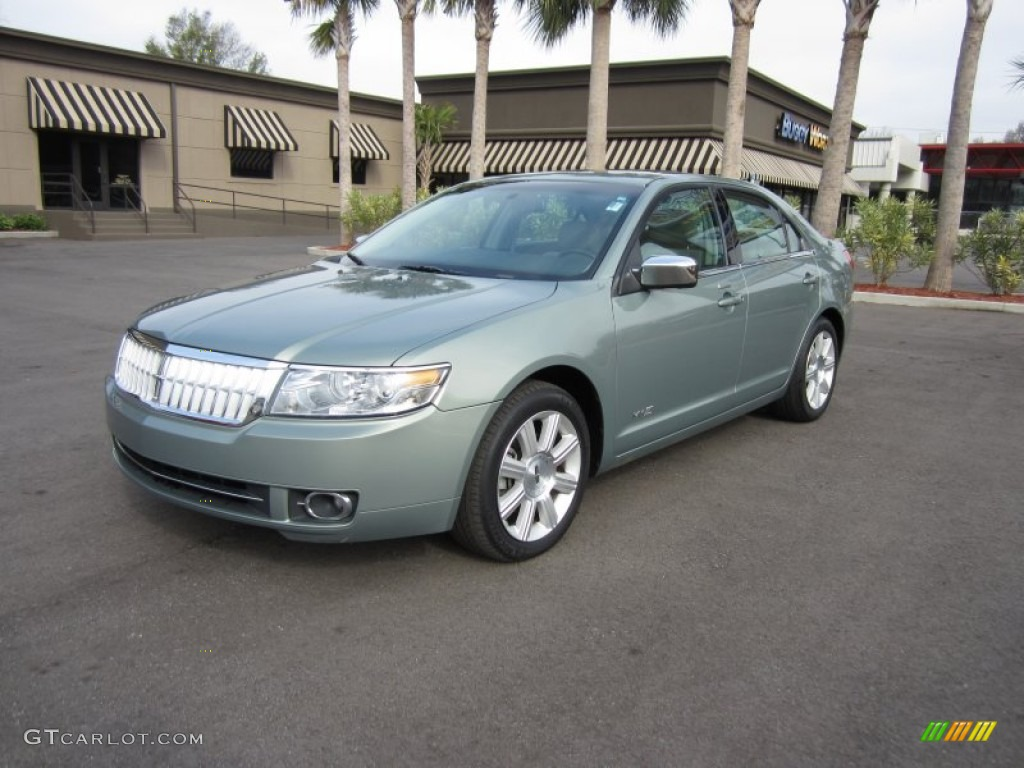2008 MKZ Sedan - Moss Green Metallic / Light Stone photo #1