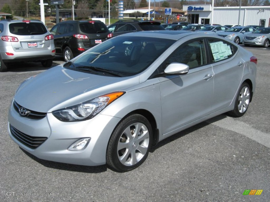 Silver 2012 Hyundai Elantra Limited Exterior Photo