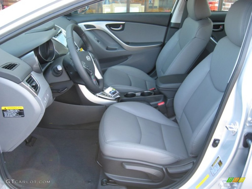 Gray Interior 2012 Hyundai Elantra Limited Photo 61555446