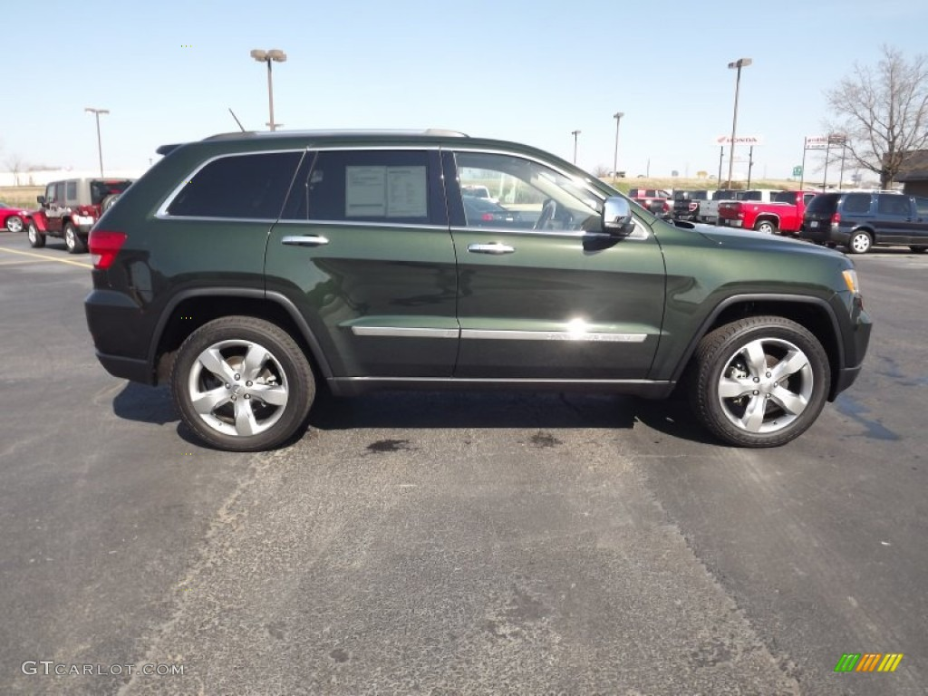 Natural Green Pearl 2011 Jeep Grand Cherokee Overland 4x4