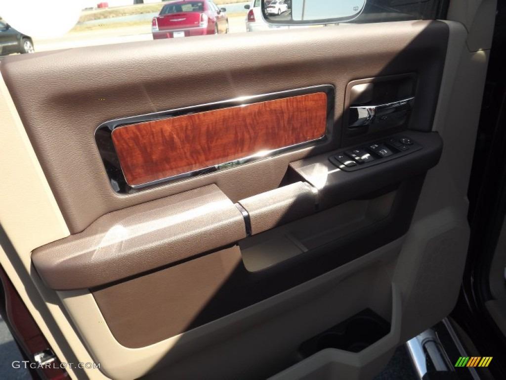 2012 Ram 1500 Laramie Crew Cab 4x4 - Deep Molten Red Pearl / Light Pebble Beige/Bark Brown photo #12