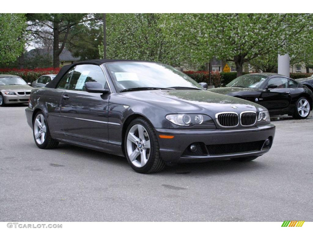 Sparkling Graphite Metallic BMW Series I Convertible - 2006 bmw 325ci convertible