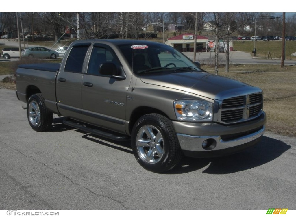 2007 light khaki metallic dodge ram 1500 lone star edition quad cab 61537965. Black Bedroom Furniture Sets. Home Design Ideas