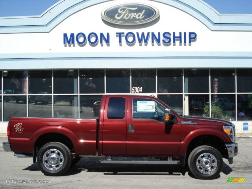 2012 autumn red metallic ford f250 super duty xlt supercab 4x4 61537723 car. Black Bedroom Furniture Sets. Home Design Ideas