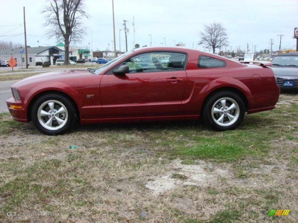 redfire metallic 2007 ford mustang gt deluxe coupe exterior photo 61584205. Black Bedroom Furniture Sets. Home Design Ideas