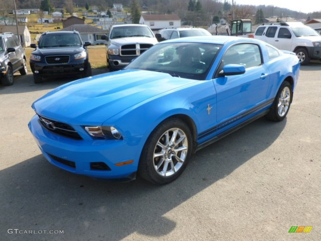 2010 grabber blue ford mustang v6 premium coupe 61580346 car color galleries. Black Bedroom Furniture Sets. Home Design Ideas