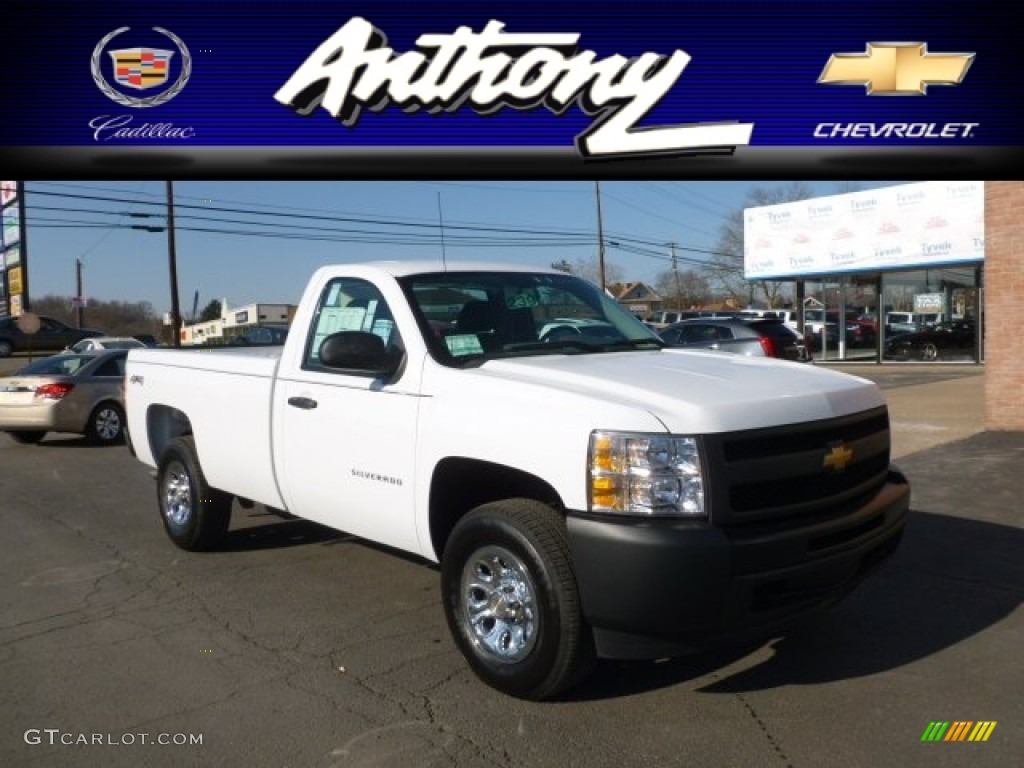 2012 Silverado 1500 Work Truck Regular Cab 4x4 - Summit White / Dark Titanium photo #1