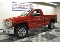 2012 Victory Red Chevrolet Silverado 1500 Work Truck Regular Cab 4x4  photo #1