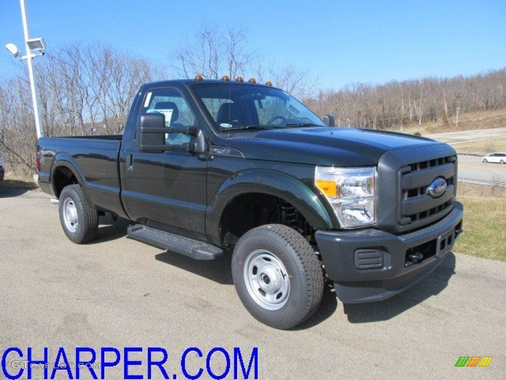 2012 F250 Super Duty XL Regular Cab 4x4 - Green Gem Metallic / Steel photo #1