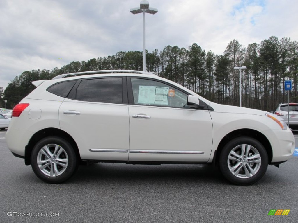 Pearl White 2012 Nissan Rogue Sv Exterior Photo 61632906