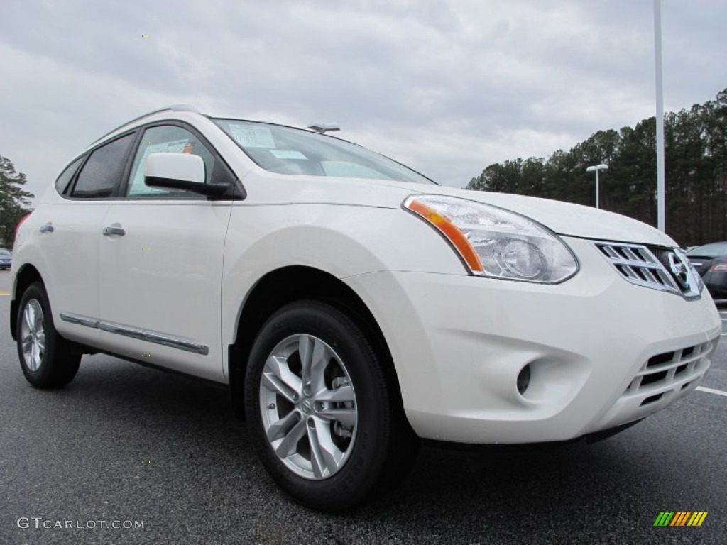 Pearl White 2012 Nissan Rogue Sv Exterior Photo 61632916