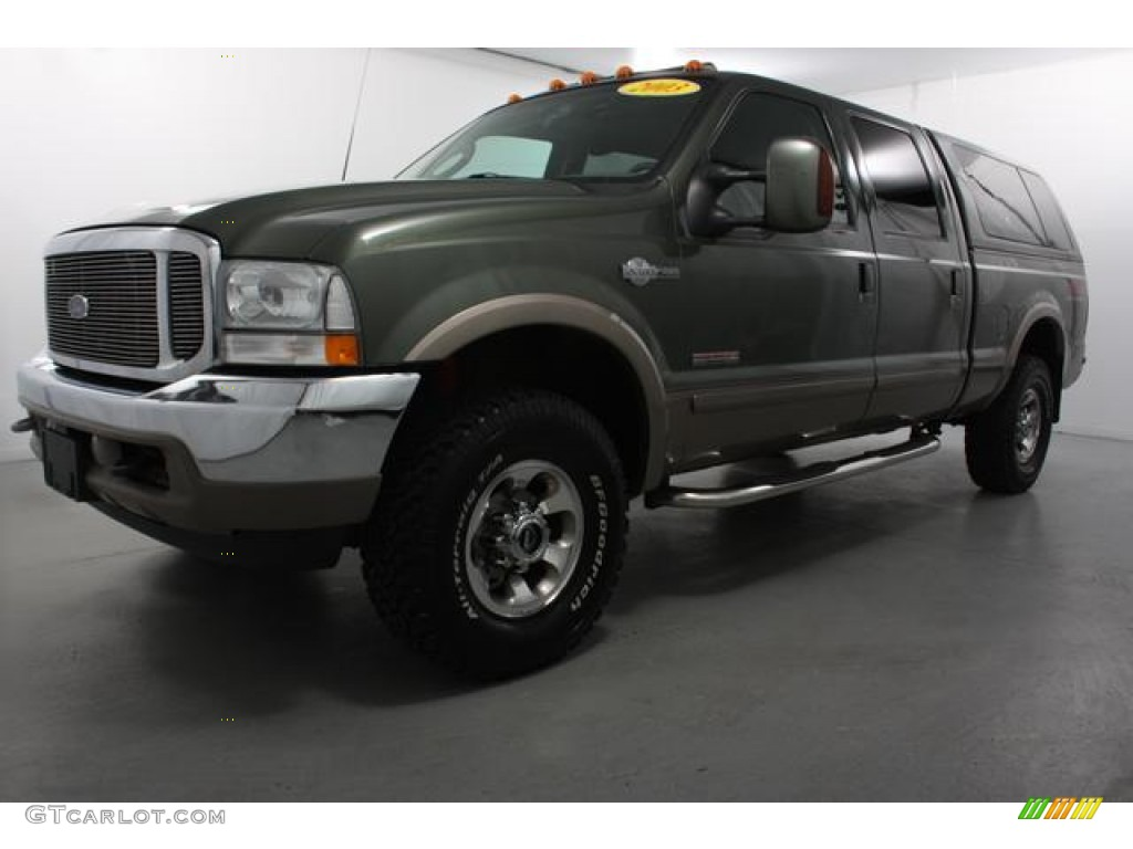 2003 estate green metallic ford f250 super duty king ranch crew cab 4x4 61580041. Black Bedroom Furniture Sets. Home Design Ideas
