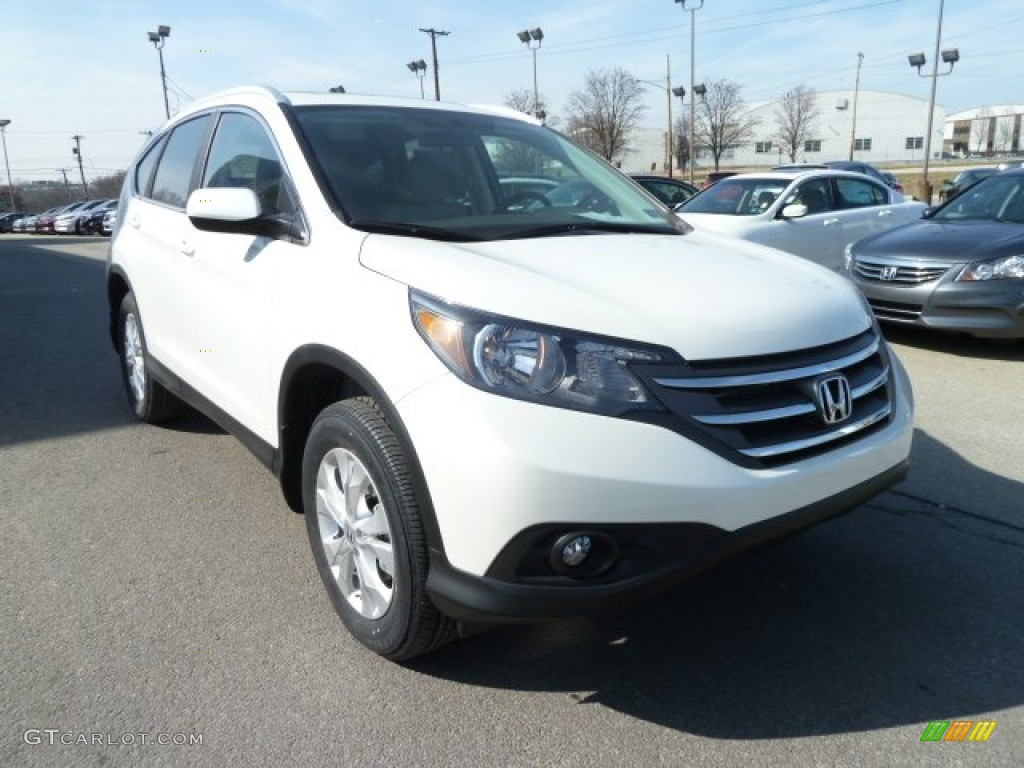 White Diamond Pearl 2012 Honda CR-V EX-L 4WD Exterior Photo #61637009
