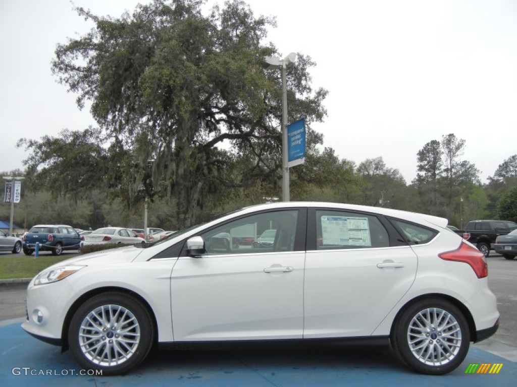 2012 Focus SEL 5-Door - White Platinum Tricoat Metallic / Stone photo #2