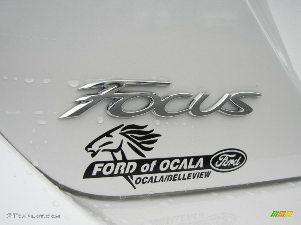 2012 Focus SEL 5-Door - White Platinum Tricoat Metallic / Stone photo #4