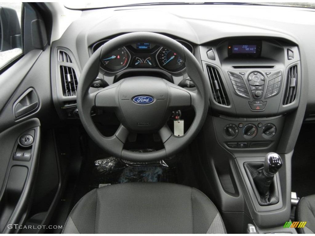 2012 ford focus s sedan charcoal black dashboard photo 61657993