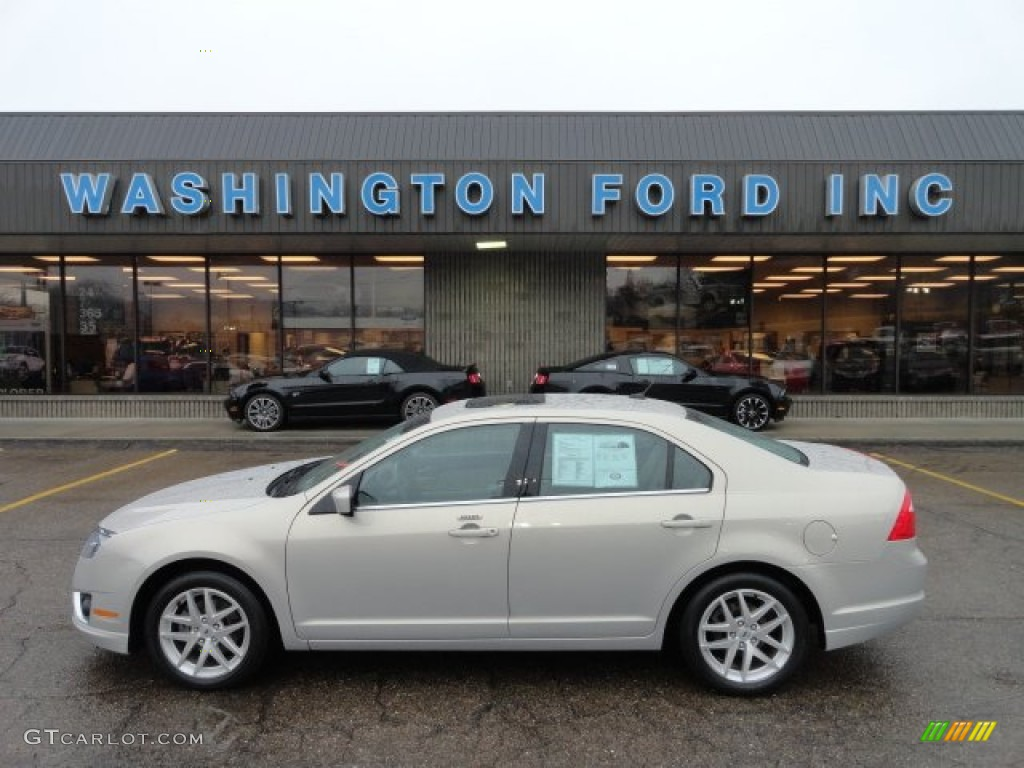 2010 Fusion SEL V6 AWD - Smokestone Metallic / Medium Light Stone photo #1
