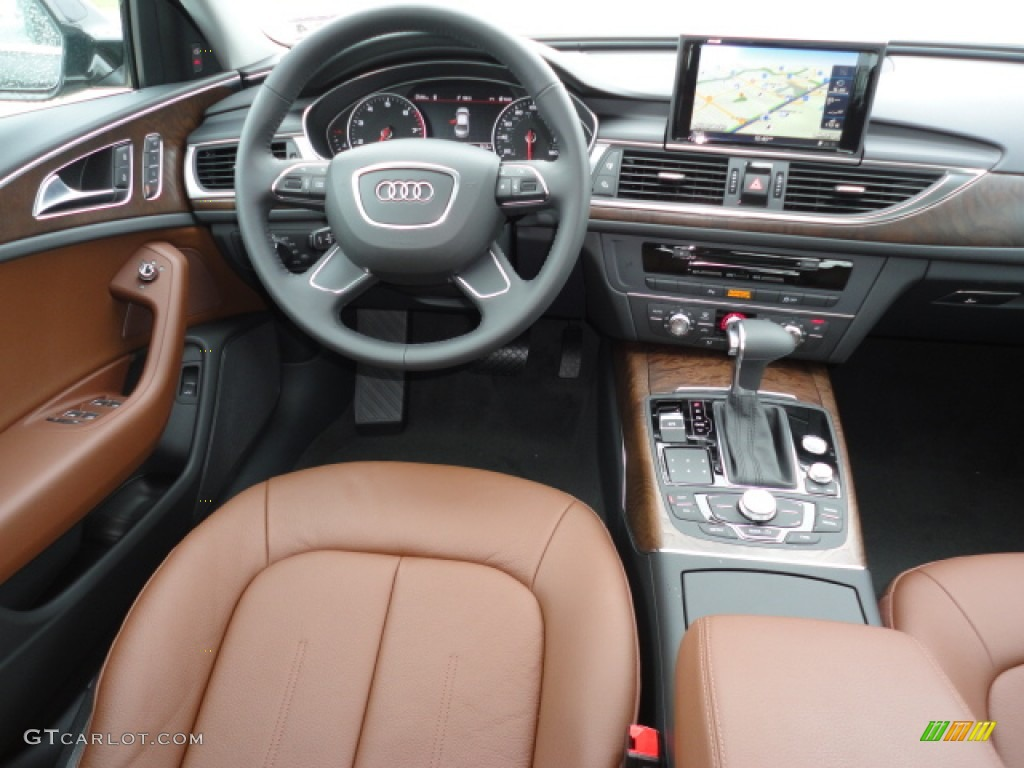 2012 Audi A6 2 0t Sedan Nougat Brown Dashboard Photo
