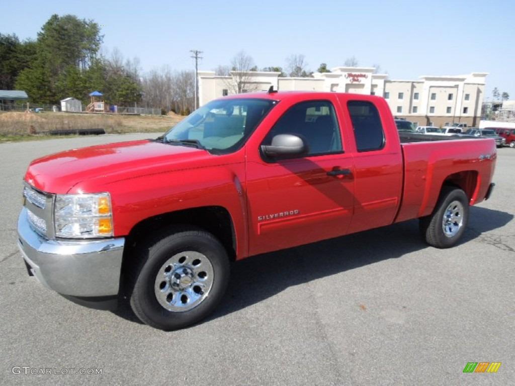 2012 Silverado 1500 LS Extended Cab 4x4 - Victory Red / Dark Titanium photo #1