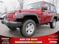 2012 Deep Cherry Red Crystal Pearl Jeep Wrangler Sport 4x4  photo #1