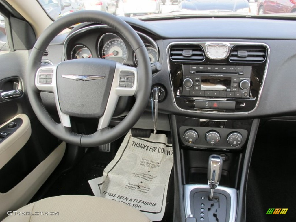 2012 chrysler 200 touring sedan black light frost dashboard photo 61711353. Black Bedroom Furniture Sets. Home Design Ideas