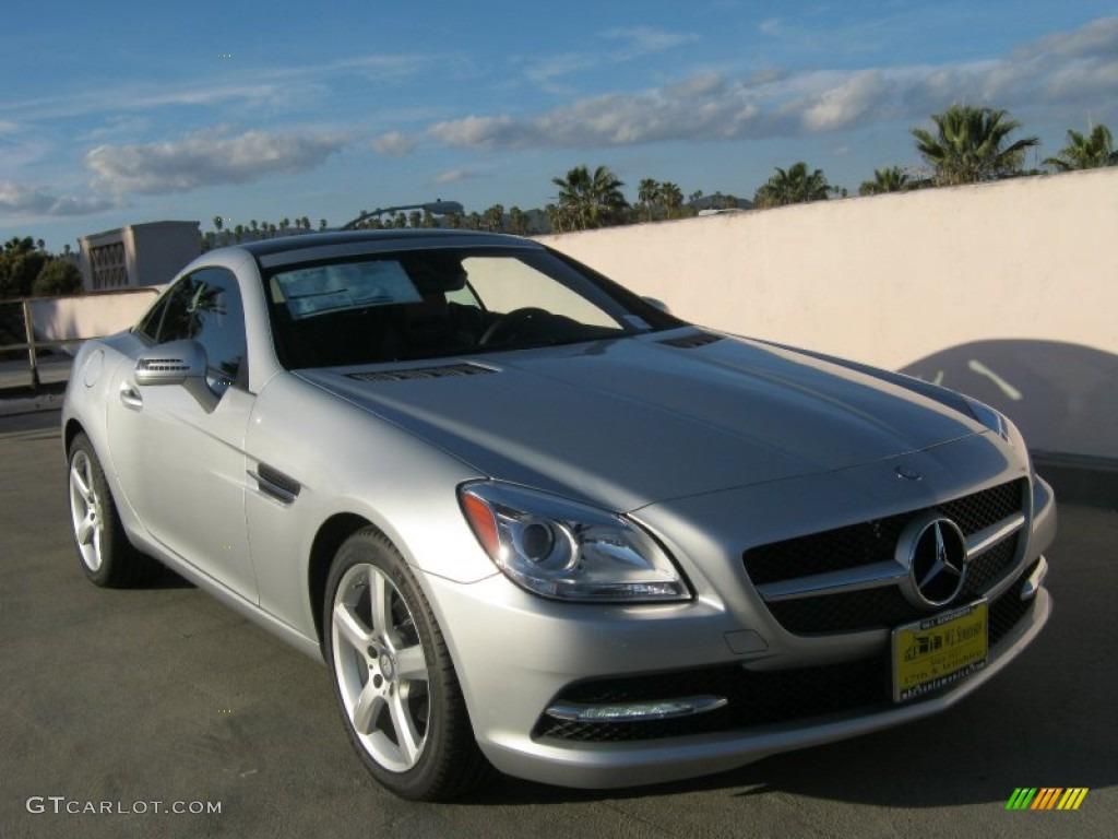 2012 iridium silver metallic mercedes benz slk 250 roadster 61701899 car color. Black Bedroom Furniture Sets. Home Design Ideas