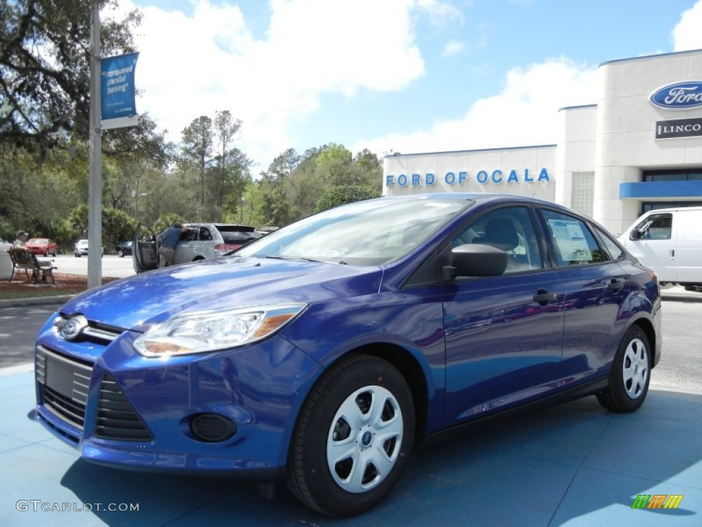 2012 Focus S Sedan - Sonic Blue Metallic / Charcoal Black photo #1
