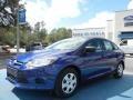 2012 Sonic Blue Metallic Ford Focus S Sedan  photo #1