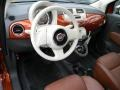 Pelle Marrone/Avorio (Brown/Ivory) 2012 Fiat 500 Interiors