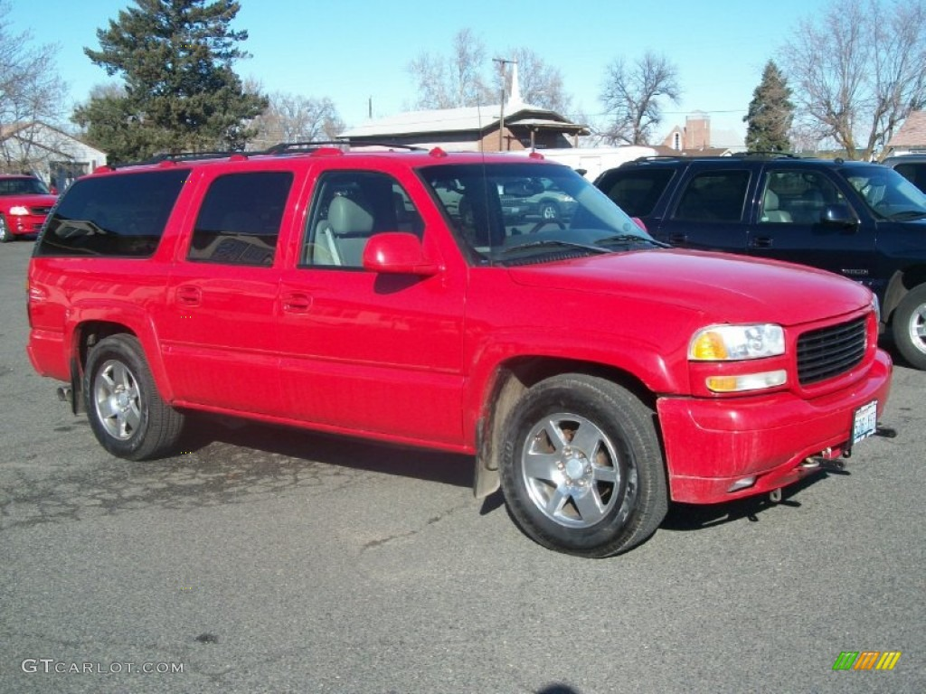 Fire red gmc yukon
