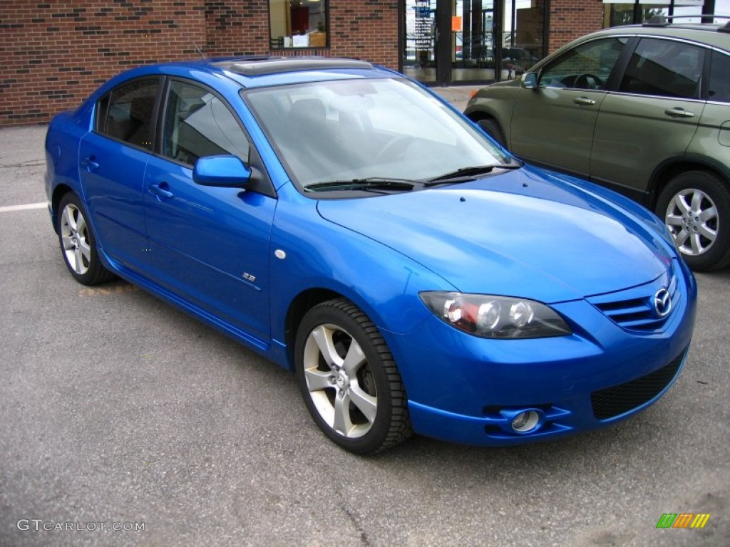 2006 winning blue metallic mazda mazda3 s sedan 61701701. Black Bedroom Furniture Sets. Home Design Ideas