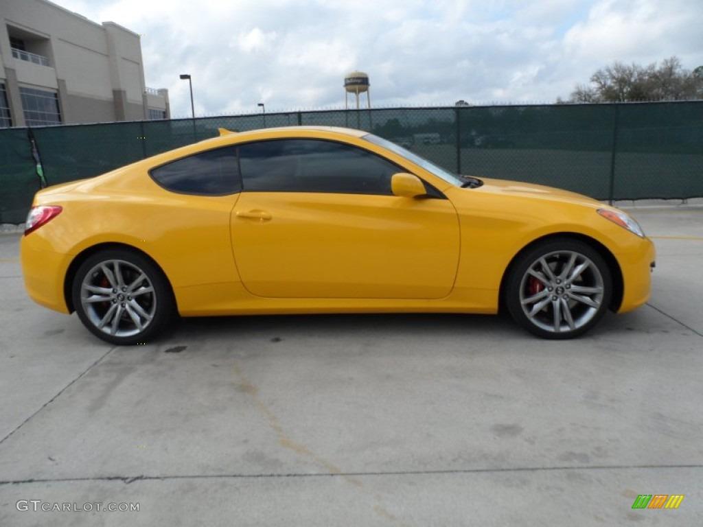 2012 interlagos yellow hyundai genesis coupe 3 8 r spec 61702074 photo 2 car. Black Bedroom Furniture Sets. Home Design Ideas