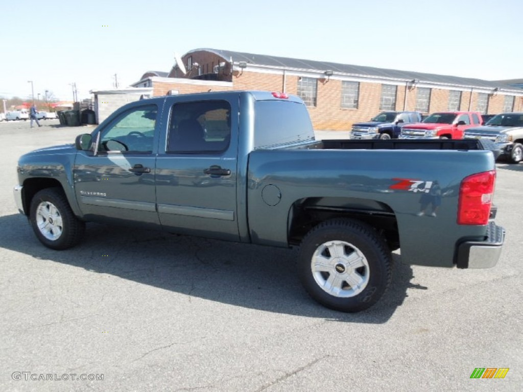 2012 Silverado 1500 LT Crew Cab 4x4 - Blue Granite Metallic / Ebony photo #3
