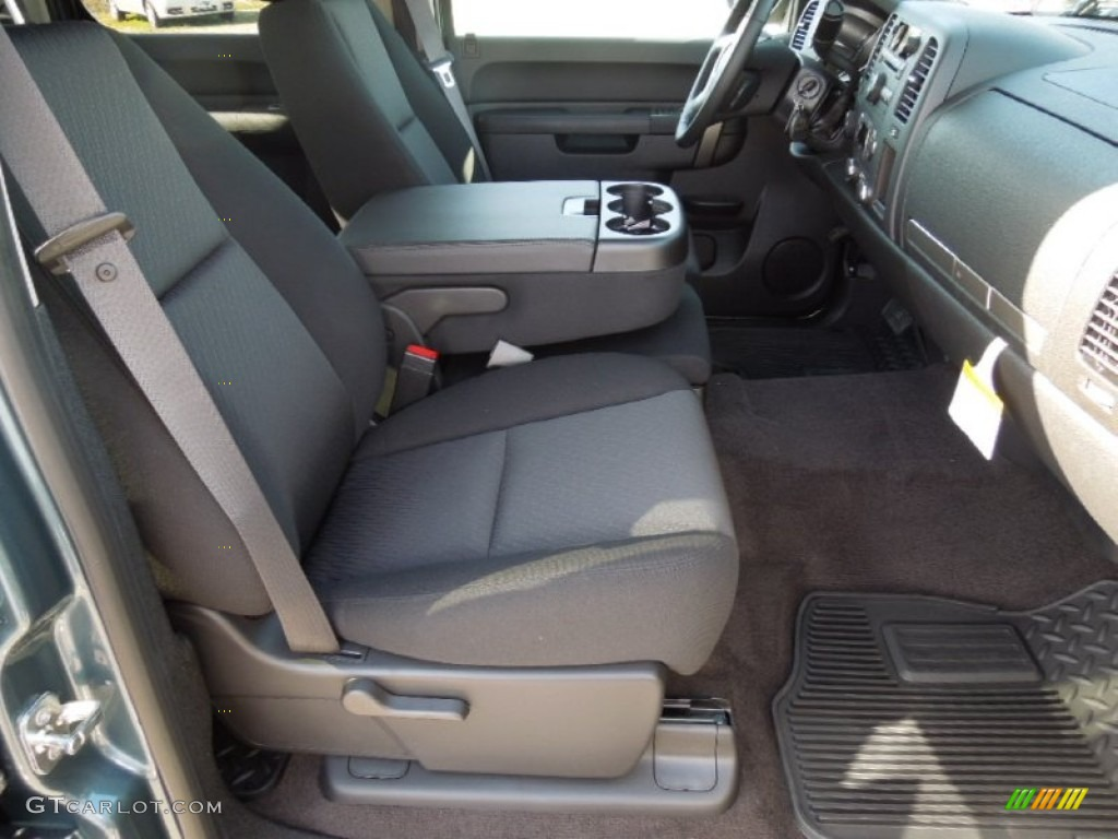 2012 Silverado 1500 LT Crew Cab 4x4 - Blue Granite Metallic / Ebony photo #18