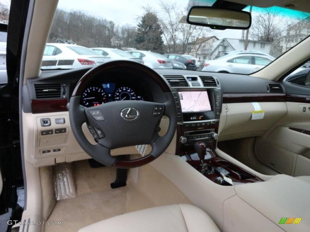 Parchment Medium Brown Walnut Interior 2012 Lexus Ls 460