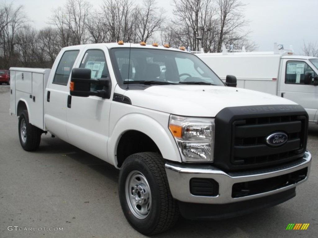 2012 oxford white ford f350 super duty xl crew cab 4x4 utility truck 61761156 photo 2