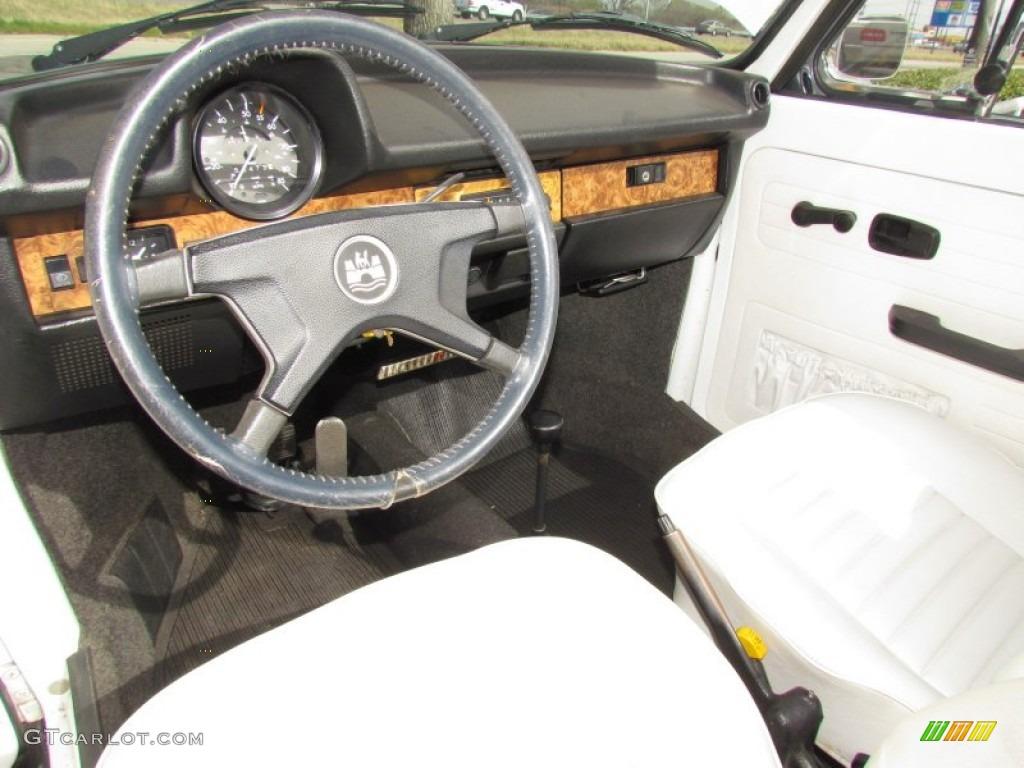 White Interior 1979 Volkswagen Beetle Convertible Photo #61779197
