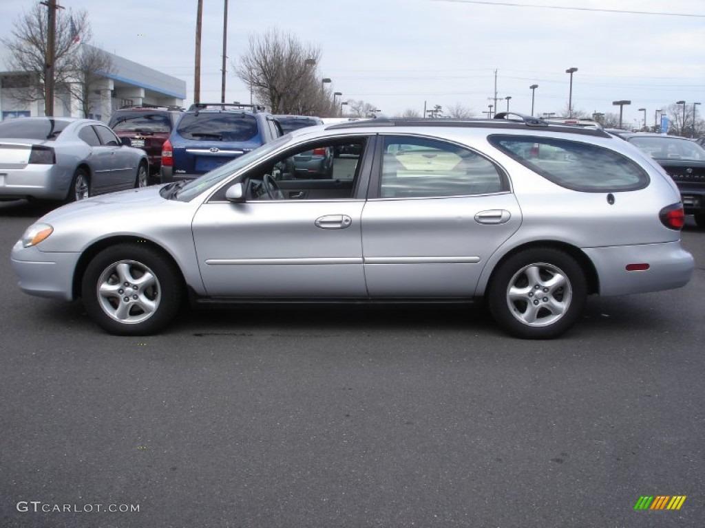 silver frost metallic 2001 ford taurus ses wagon exterior photo  61782120