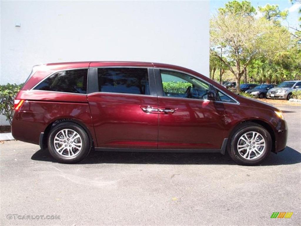 Dark Cherry Pearl Ii 2012 Honda Odyssey Ex L Exterior