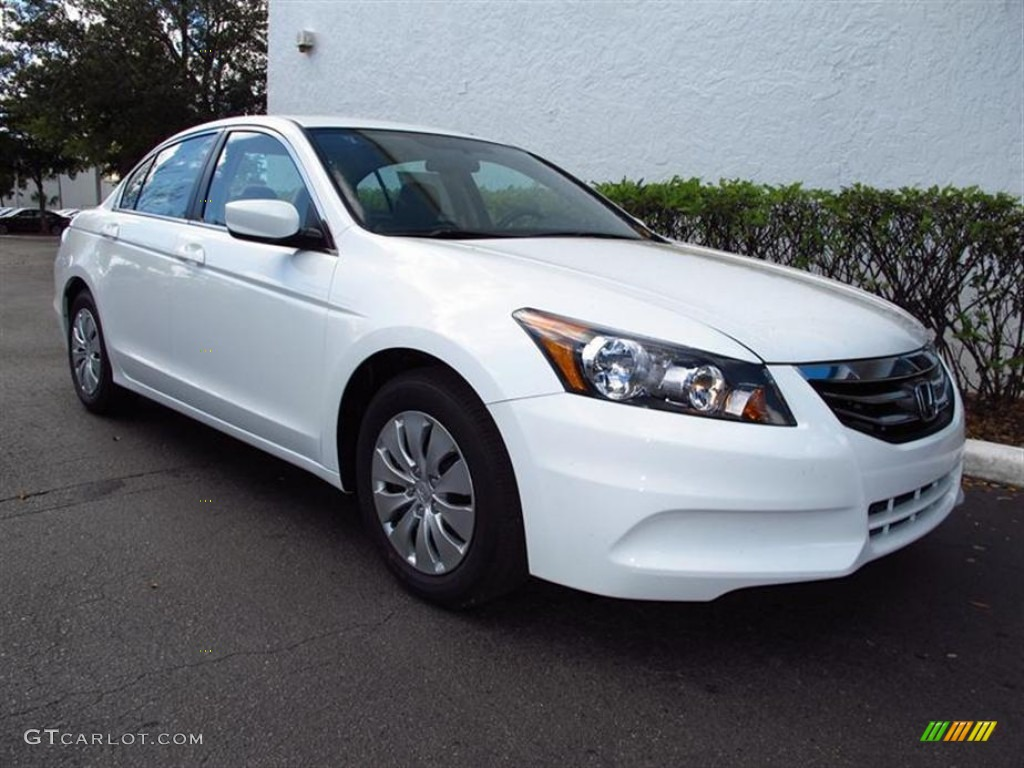 2012 White Diamond Pearl Honda Accord Lx Sedan 61761027 Gtcarlot Com Car Color Galleries