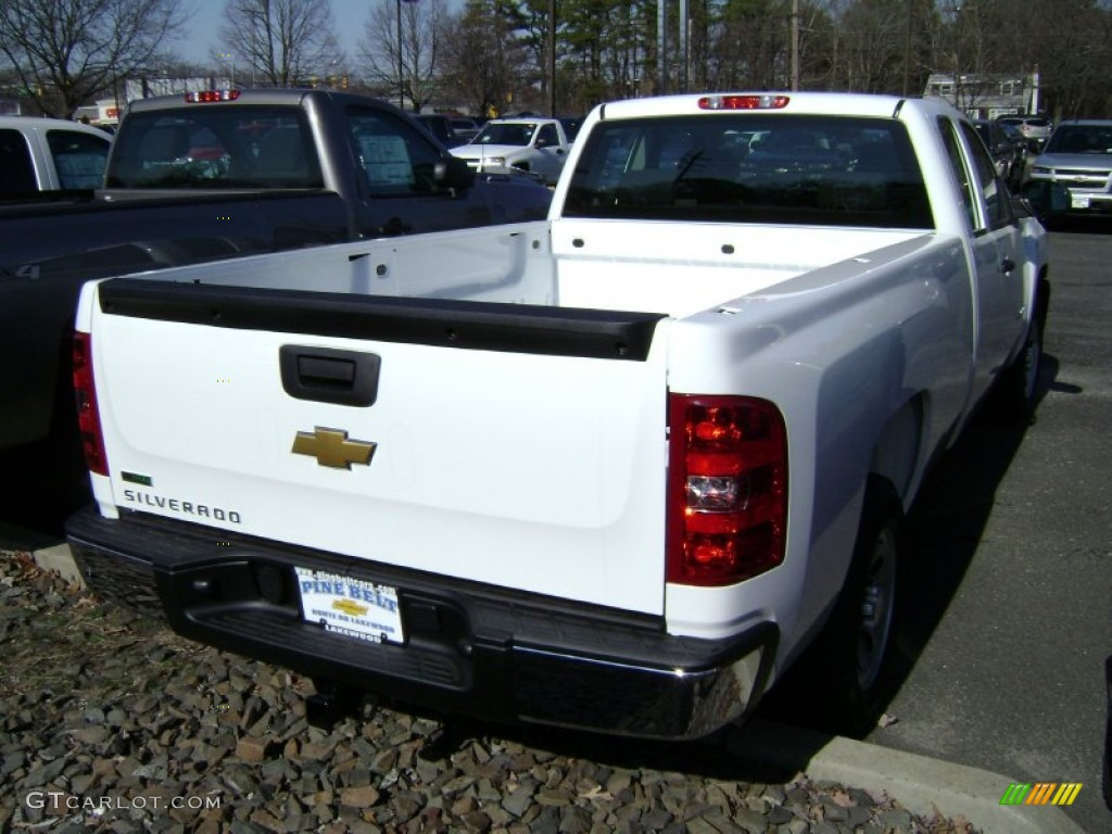 2012 Silverado 1500 Work Truck Extended Cab - Summit White / Dark Titanium photo #2
