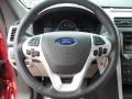 2012 Ford Explorer Medium Light Stone Interior Steering Wheel Photo