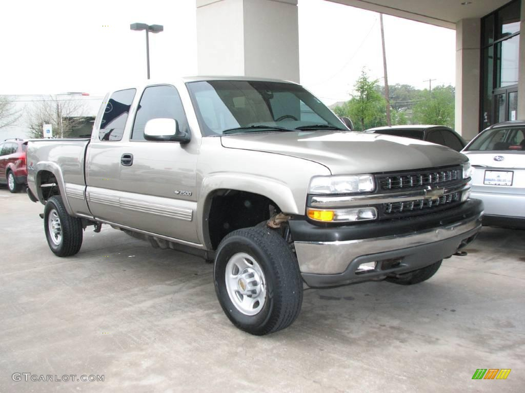 2000 light pewter metallic chevrolet silverado 2500 ls extended cab 4x4 6148425. Black Bedroom Furniture Sets. Home Design Ideas