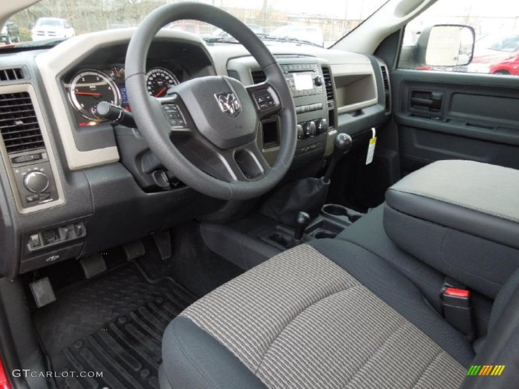 Dark Slate Medium Graystone Interior 2012 Dodge Ram 2500